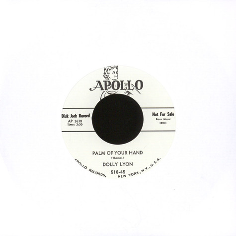 Dolly Lyon - Palm Of Your Hand / Call Me Darling