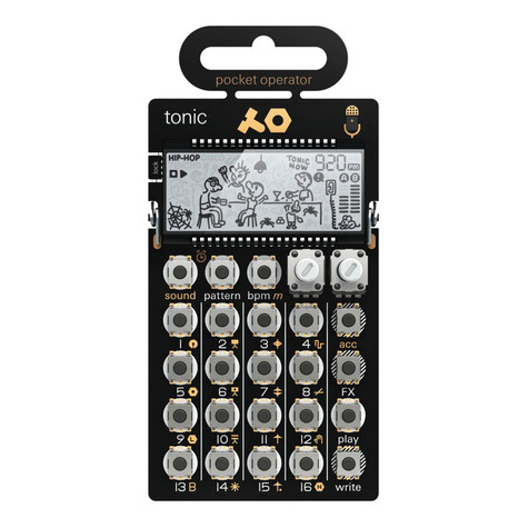 Teenage Engineering x Cheap Monday - Pocket Operator PO-32 Tonic (8-bit Synthesizer und Sequencer)