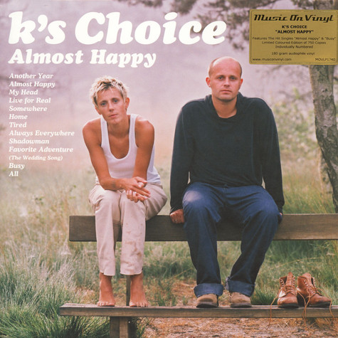 K's Choice - Almost Happy Colored Vinyl Edition
