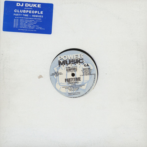 DJ Duke Presents Club People Featuring Ela'n - Party Time (Remixes)
