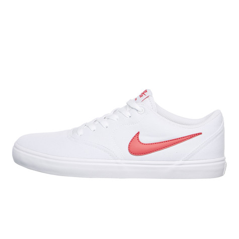 fc7a2d366c43 Nike SB - Check Solarsoft Canvas (White   Track Red)