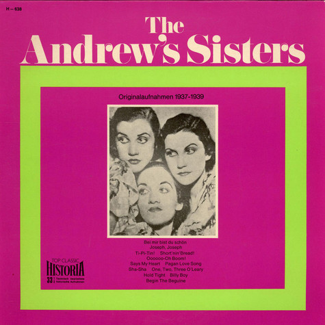 Andrews Sisters, The - Originalaufnahmen 1937-1939