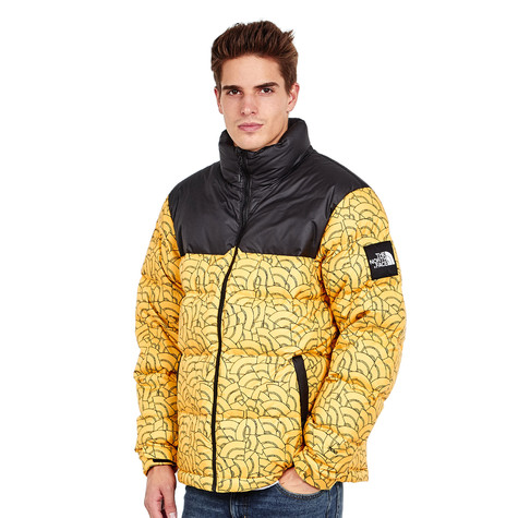 The North Face - 1992 Nuptse Jacket (Tnf Yellow Dome Print)  1ca6d2e22