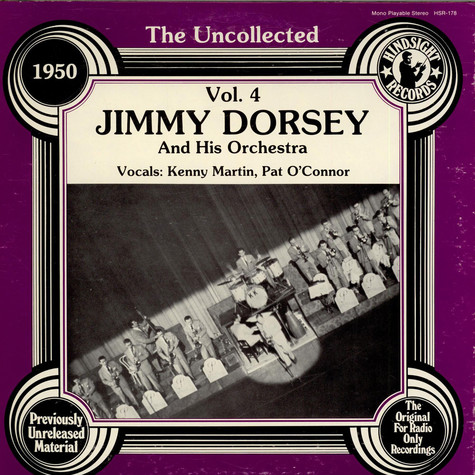 Jimmy Dorsey And His Orchestra - The Uncollected Jimmy Dorsey And His Orchestra Vol. 4 (1950)