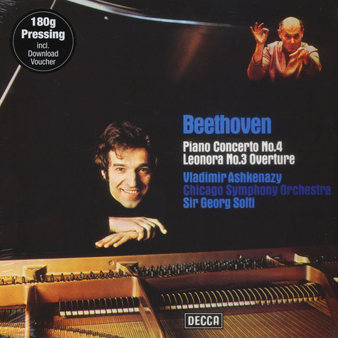Vladimir Ashkenazy & Chicago Philarmonic Orchestra with Sir Georg Solti - Beethoven: Piano Concert No. 4 & Leonore Overture No. 3