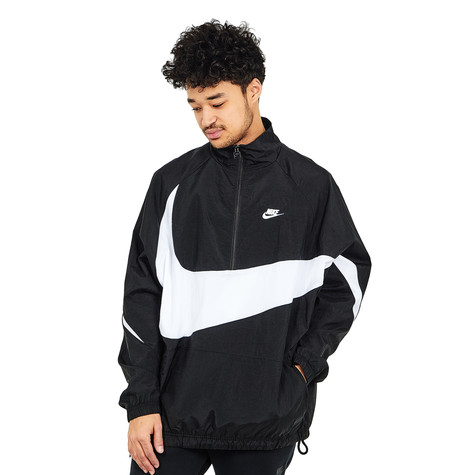 Nike - NSW VW Swoosh Woven Half-Zip Jacket (Black   White   White)  0d4cf2852