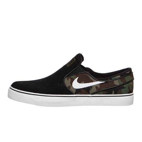on sale b4e39 f06d2 Nike SB. Zoom Stefan Janoski Slip (Black   White   Multicolor)