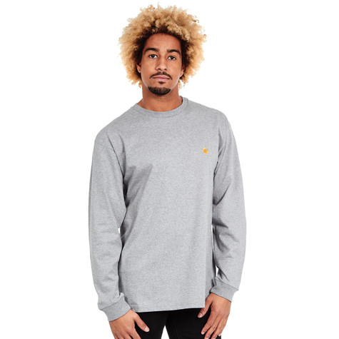 8252d18e269 Carhartt WIP - L/S Chase T-Shirt (Grey Heather / Gold) | HHV