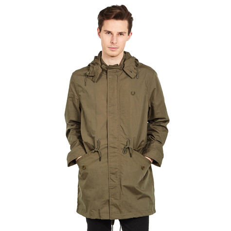 fred perry lightweight fishtail parka dark iris. Black Bedroom Furniture Sets. Home Design Ideas
