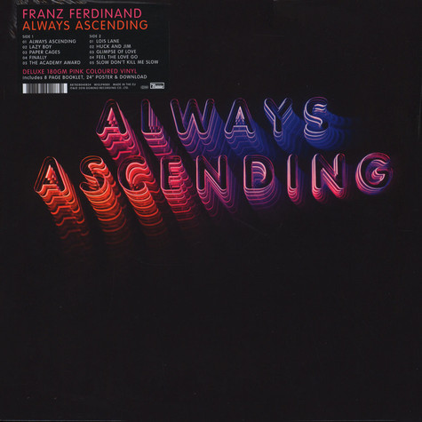Image result for franz ferdinand always ascending pink