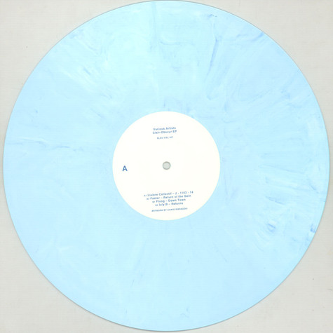 Faster, Lisiere Collectif, Floog & Luly B - Clair-Obscur EP Blue White Marbled Vinyl Edition