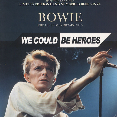 David Bowie - We Could Be Heroes - The Legendary Broadcasts Blue Vinyl Edition