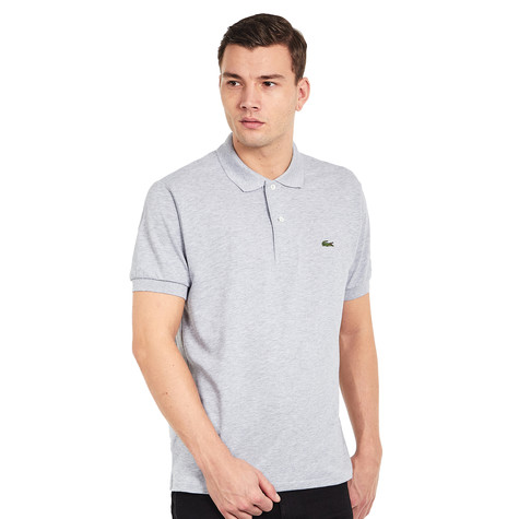 Lacoste - 2 Ply Regular Pique Chine Polo Shirt (Silver Chine)  76a3c50a29f0