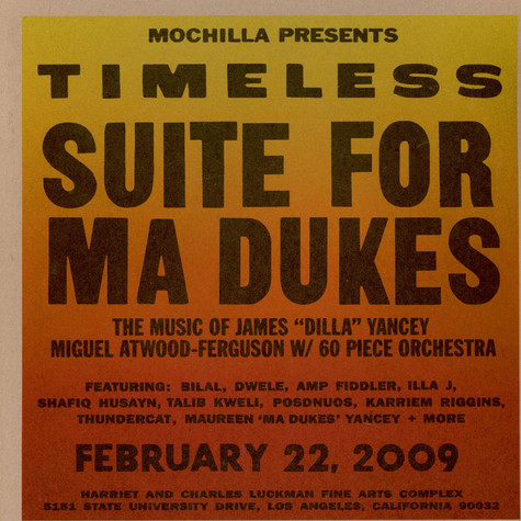 "Miguel Atwood-Ferguson - Mochilla Presents Timeless: Suite For Ma Dukes - The Music Of James ""J Dilla"" Yancey"