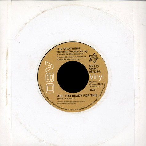 The Brothers Featuring  George Young / The Trumains - Are You Ready For This / Ripe For The Pickin'