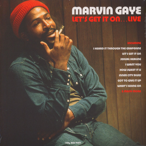 Marvin Gaye - Lets Get It On Live Red Vinyl Edition