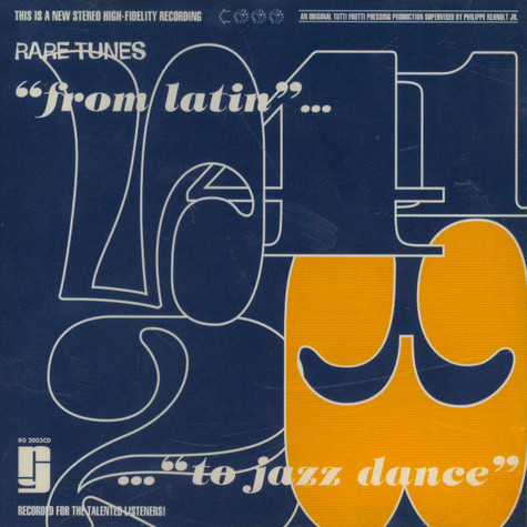 "V.A. - Rare Tunes Chapter Three ""From Latin... To Jazz Dance"""