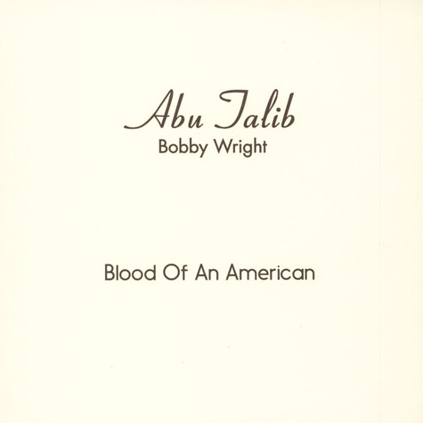 Bobby Wright - Blood Of An American