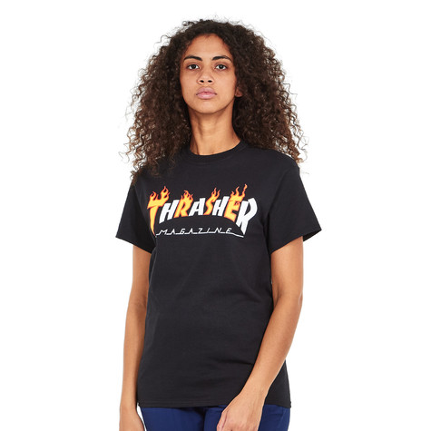 65fba6fe1a22 Thrasher - Women s Flame Mag S S T-Shirt (Black)