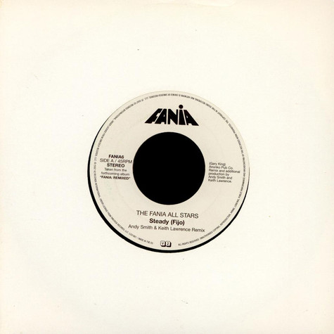 Fania All Stars / Ralfi Pagan - Steady (Fijo) / Didn't Want To Have To Do It