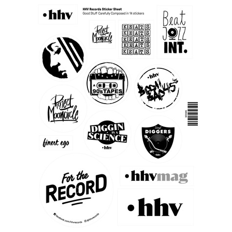 HHV - HHV Records Sticker Sheet