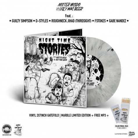 Mister Modo & Ugly Mac Beer - Night Time Stories EP Marbled Vinyl Edition