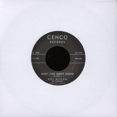 Roy Milton - Hop, Skip, Jump / Baby You Don't Know