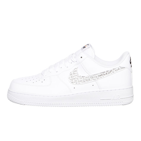 88bac286ff30 Nike. Air Force 1  07 LV8 JDI LNTC (White   White   Black   Total Orange)