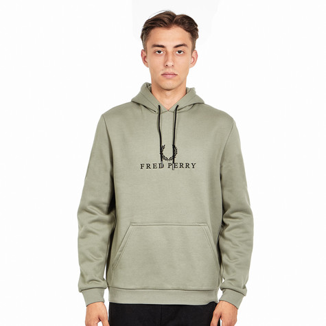 46951265c Fred Perry - Embroidered Hooded Sweatshirt (Washing Khaki) | HHV