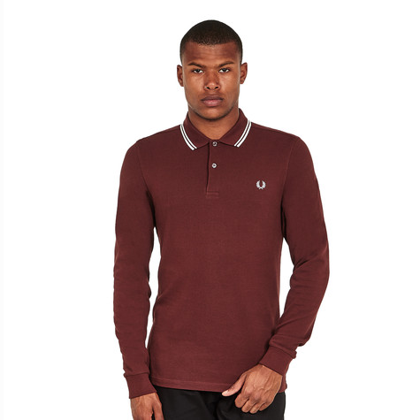 0cbfe2cb Fred Perry - Long Sleeve Twin Tipped Shirt (Stadium Red) | HHV