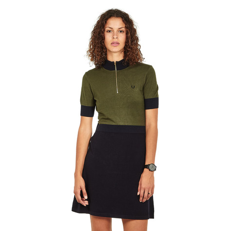 Fred Perry - Zip Neck Knitted Dress