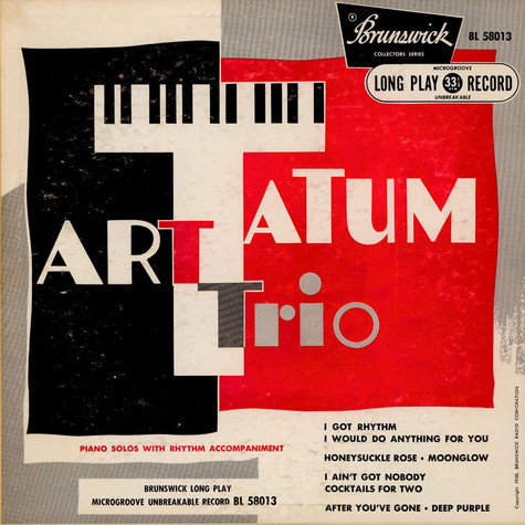 Art Tatum Trio - Piano Solos With Rhythm Accompaniment