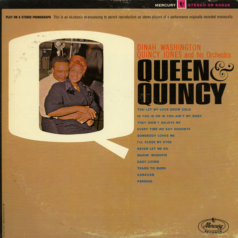 Dinah Washington / Quincy Jones And His Orchestra - Queen & Quincy