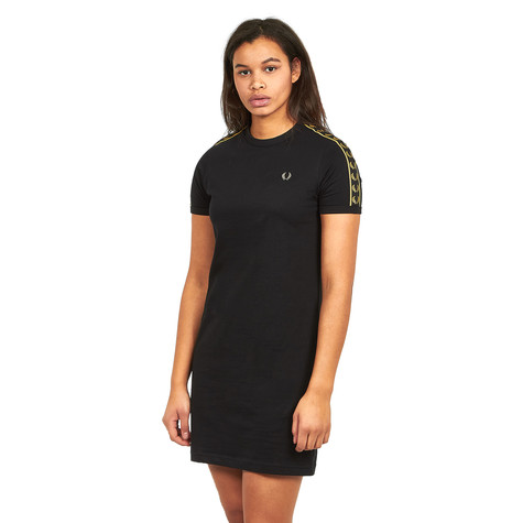 70152c364f26 Fred Perry - Taped Ringer T-Shirt Dress (Black / Gold) | HHV