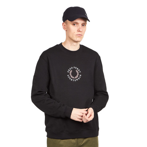 Fred Perry - Branded Fleeceback Sweatshirt