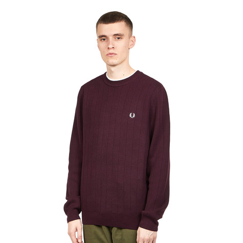 Fred Perry - Textured Crew Neck Jumper