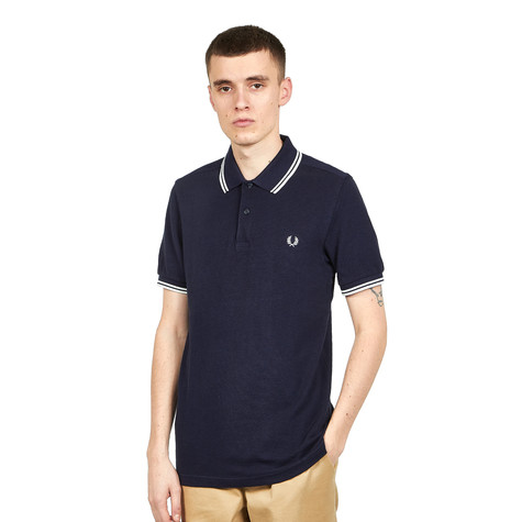2dab784a9 Fred Perry - Twin Tipped Fred Perry Shirt (Carbon Blue Black Oxford ...