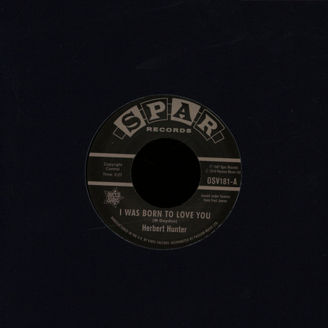 Herbert Hunter / The Jades - I Was Born To Love You / I Know That Feelin'