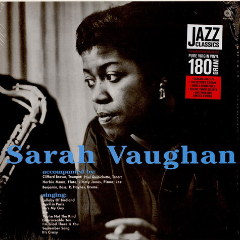 Sarah Vaughan - Sarah Vaughan With Clifford Brown