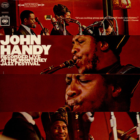 John Handy - Recorded Live At The Monterey Jazz Festival