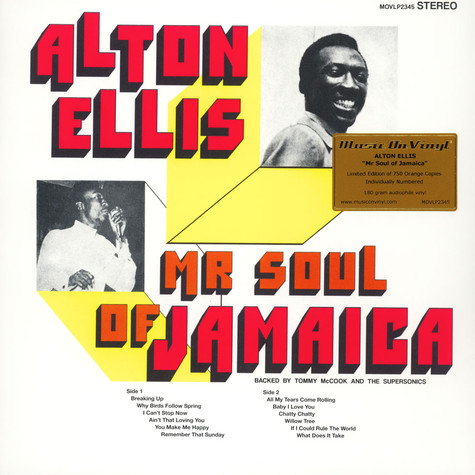Alton Ellis - Mr Soul Of Jamaica Colored Vinyl Edition
