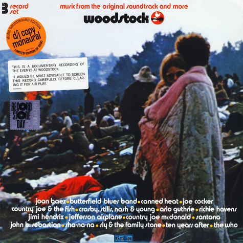 V.A. - OST Woodstock: Music From The Original Soundtrack And More, Vol. 1 Record Store Day 2019 Edition