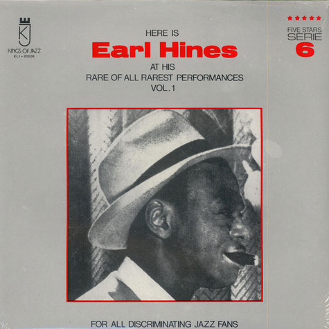 Earl Hines - Here is Earl Hines At His Rare Of All Rarest Performances Vol.1