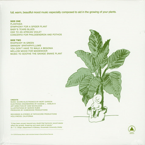 Mort Garson - Mother Earth's Plantasia Green Vinyl Edition