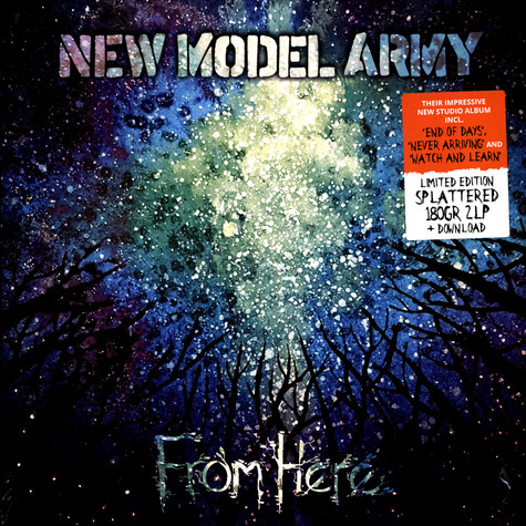 New Model Army - From Here Limited Splatter Vinyl Edition