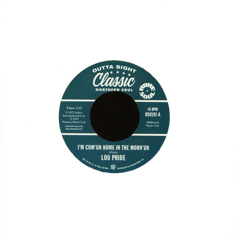 Lou Pride / Don Varner - I'm Com'un In Home In The Morn'un/Tearstained Face