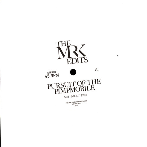 Mr. K - Pursuit Of The Pimpmobile / Isabelle & The Rain