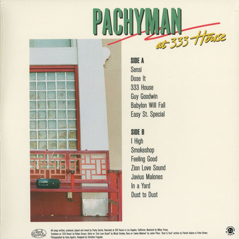 Pachyman - At 333 House