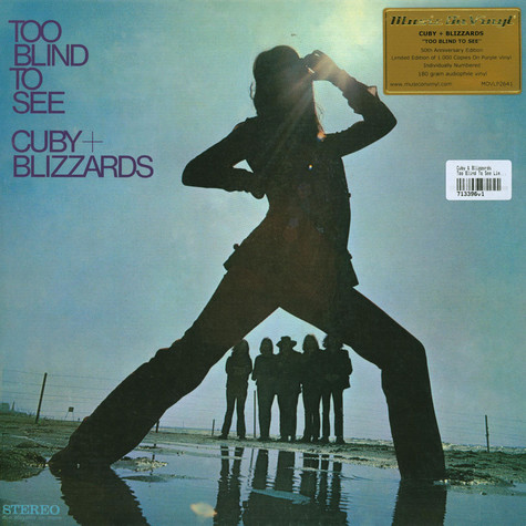 Cuby & Blizzards - Too Blind To See Limited Numbered Purple Vinyl Edition