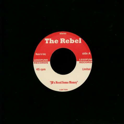 Rebel, The / Pcj Project - Jb's Need Some Money / Hotgroove Red Vinyl Edition